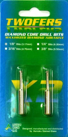 Aanraku 1/8 Inch Core Drill Bits - 2 in Pack