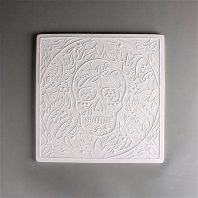 10 x 10 Inch DT37 DAY OF THE DEAD TEXTURE MOLD - For Glass Fusing and Slumping