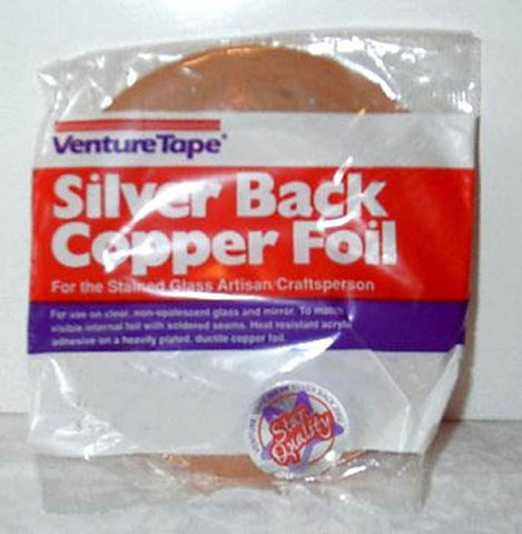 1/4 Inch Venture Silver Backed Copper Foil