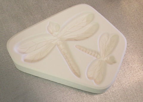 2 Small Dragonfly's Texture Mold for Glass Fusing Lf115
