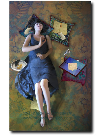 The Secret Broker - Portico Arts - Art Print by Elizabeth Leggett