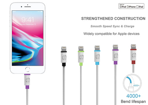 Apple MFi Certified 4 ft Lightning to USB Fast Charging Cable