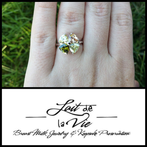 Lucky Love Clover 4 Stone Ring