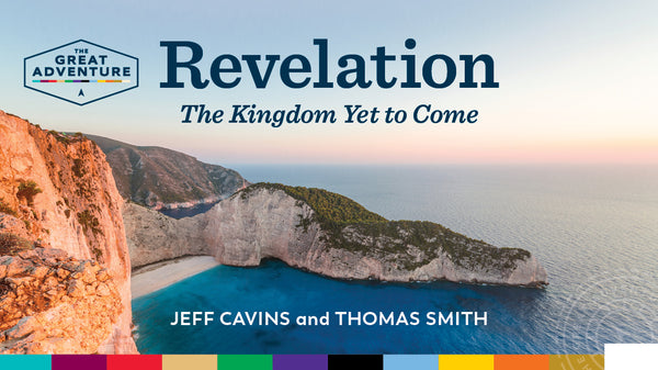 The logo for the Bible Study, Revelation: The Kingdom Yet to Come Study Program, by Jeff Cavins and Thomas Smith