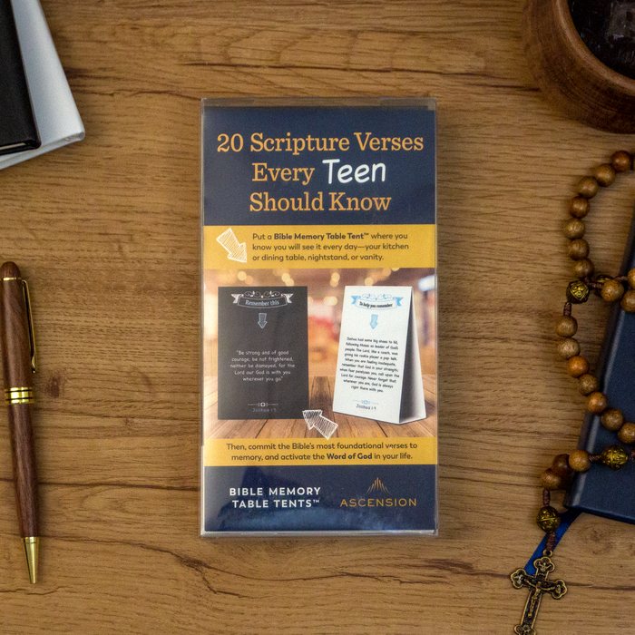 Bible Memory Table Tents for Teens