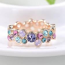 Colorful Rhinestone Ring - Sacred Motivation - 1