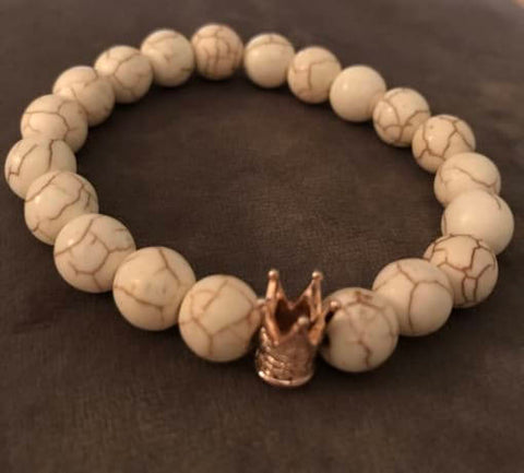 Brown Beaded Statement Natural Stone Stretch Fashion Bracelet Gift For Him/Her