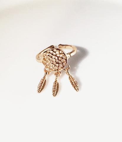 Dream Catcher  Midi Ring - Sacred Motivation - 1