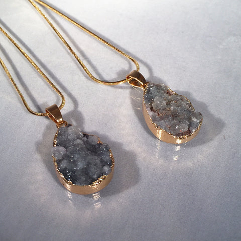 Grey Druzy Stones - Sacred Motivation - 1
