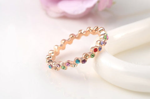 Colorful Crystal Ring - Sacred Motivation