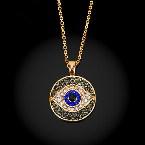 Crystal Turkey Evil Eye Necklace - Sacred Motivation