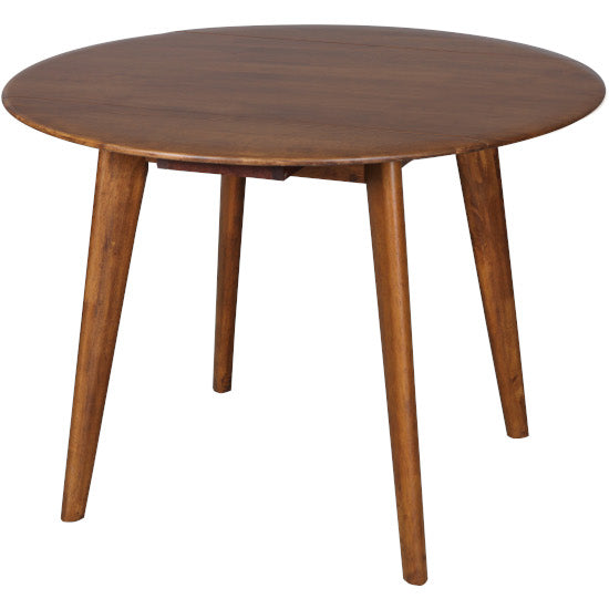 Drop-Side Round Table (Teak finish)