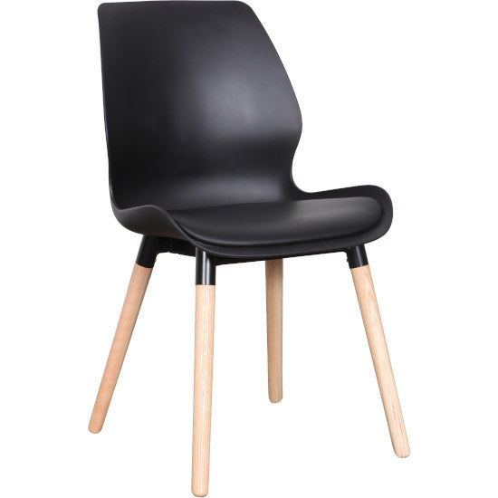 Euro Dining Chair (Black Natural)