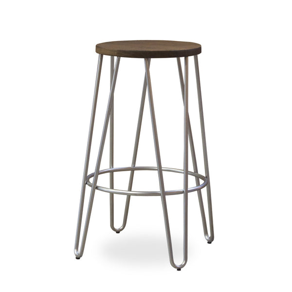 Bohemio Furniture Online Store - Skaf Kitchen Stool (Silver)