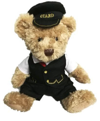 Scraggy railway bear 30cms with removable clothing George the guard
