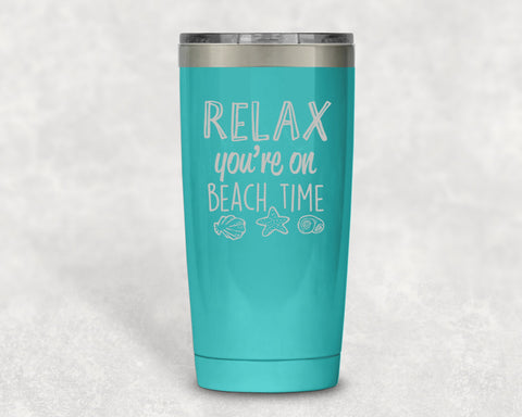 Relax Beach Time 20 oz Tumbler