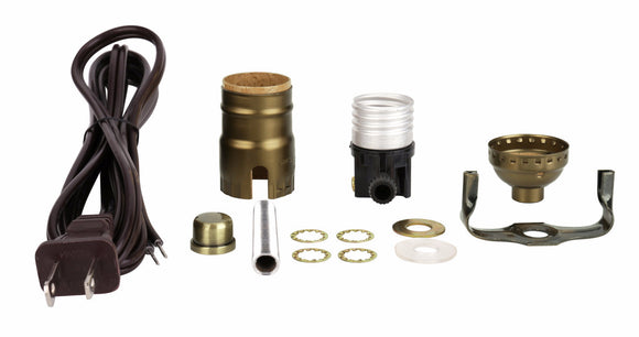 # 21020 Table Lamp Socket Kit in Antique Brass