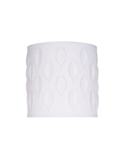 "# 39200 Transitional Drum (Cylinder) Laser Cut Shaped Spider Construction Lamp Shade in Off-White, 8"" wide (8"" x 8"" x 8"")"
