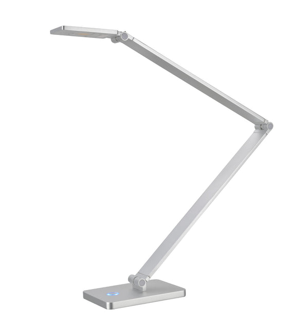 # 40055, Dimmable LED Desk Lamp, 7W Contemporary Design in Anodized Aluminum, 25 1/2