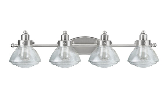 # 62080-2 4 Light Metal Bathroom Vanity Wall Light Fixture, 33 3/4