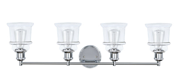 # 62126, 4 Light Metal Bathroom Vanity Wall Light Fixture, 33