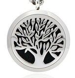 Stainless Steel Essential Oil Diffuser Necklace (Tree)