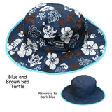 BANZ Sun Hat Baby / Blue/Brown Reversible UV Sun Hat  Retiring Soon! HRB002