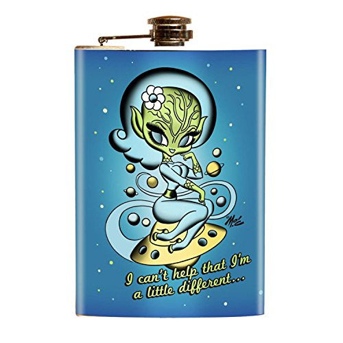 Alien UFO Girly Alien Mars Flask Spaceship - Cool Hot Fashions