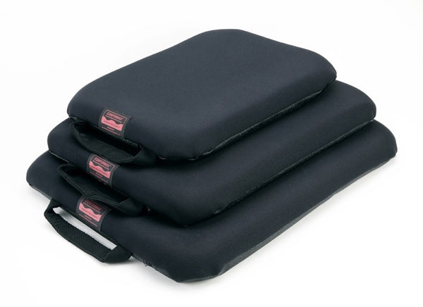 Portable gel seat pad with a zipping, washable black cover