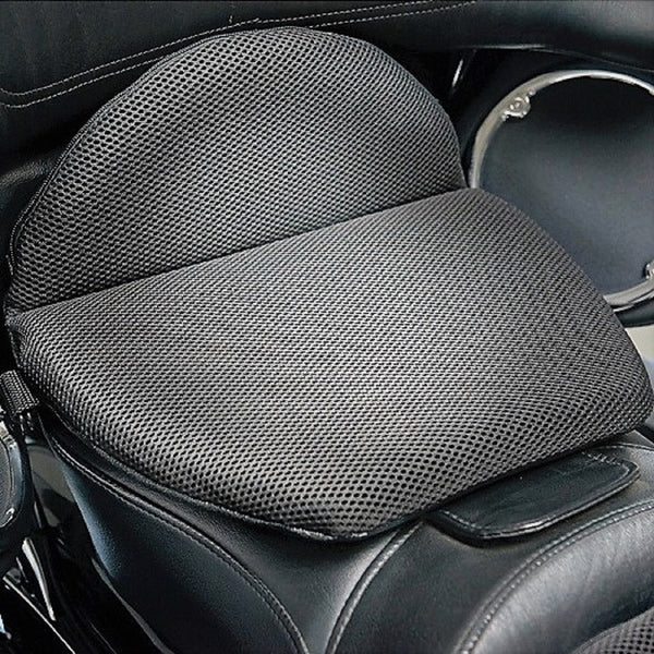 Comfortable Gel Seat Cushion on top of a Motorcycle Seat