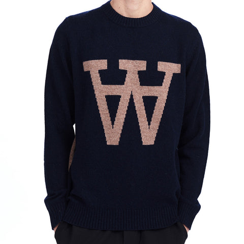 Yale Sweater Navy | Wood Wood - & BLANC