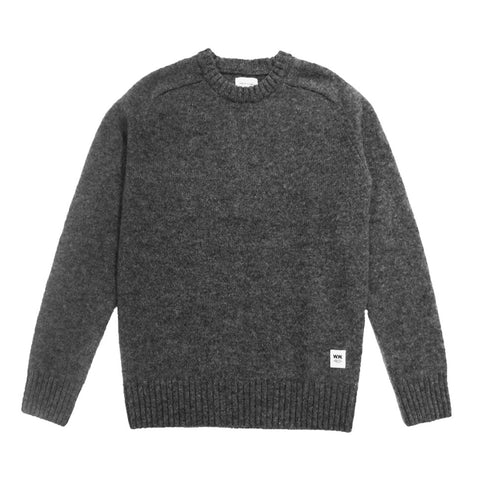 Kevin Sweater Grey | Wood Wood - & BLANC