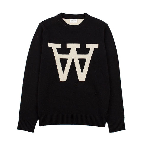 Yale Sweater Black | Wood Wood - & BLANC