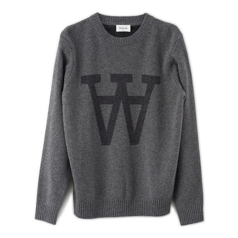 Yale Sweater Grey |  Wood Wood - & BLANC