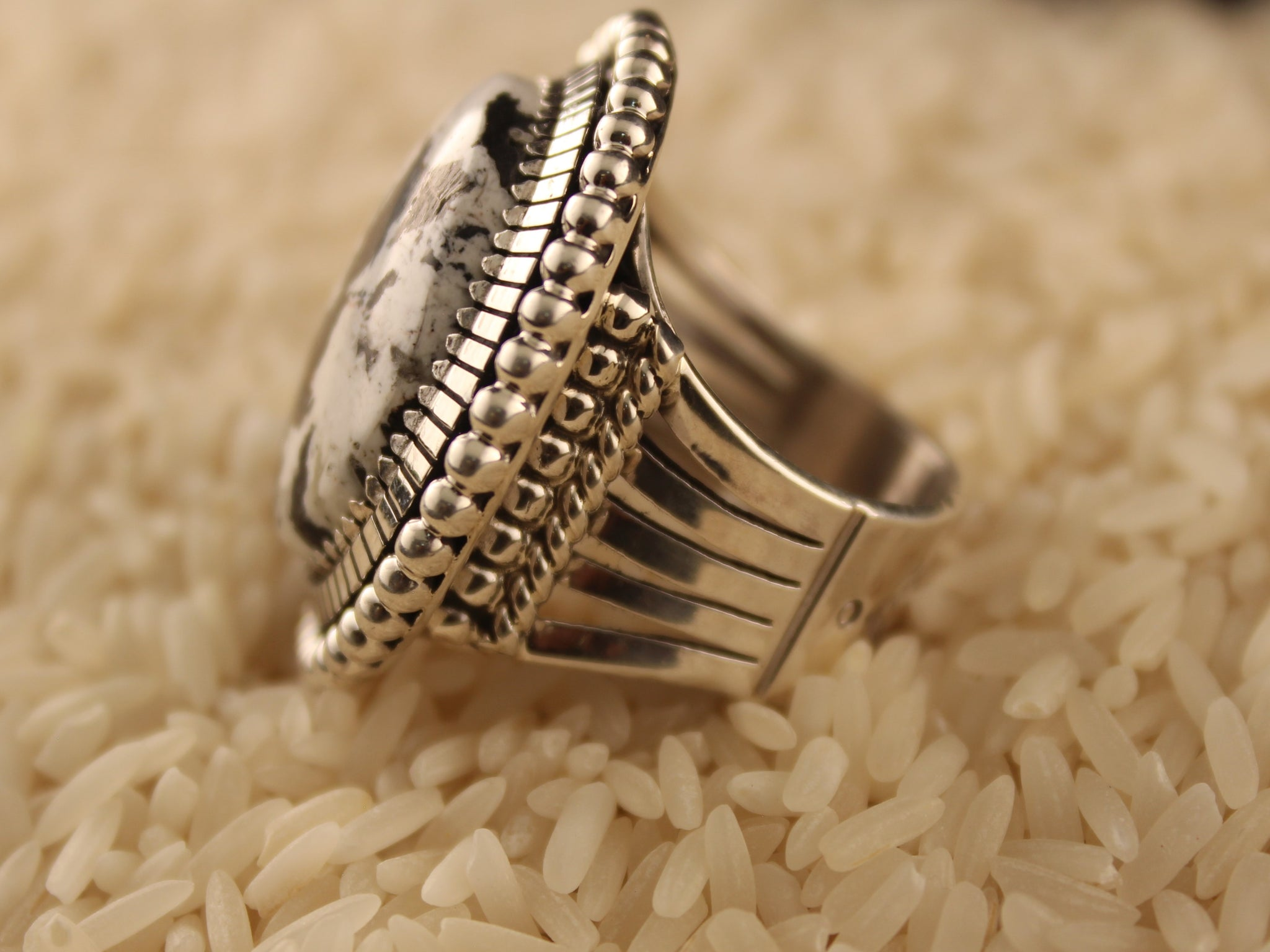 White Buffalo Dazzler Ring