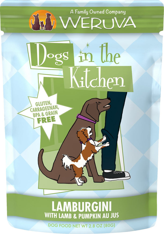 Weruva Dogs in the Kitchen Lamburgini with Lamb & Pumpkin Au Jus Grain-Free Dog Food Pouches, 2.8-oz