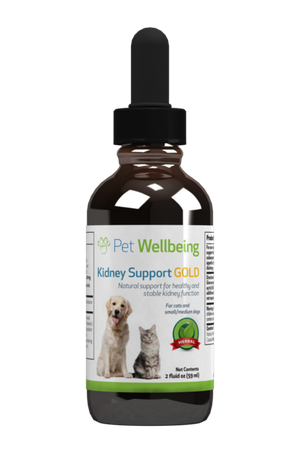Pet Wellbeing Kidney Support Gold 2oz