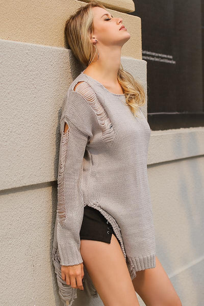 Hollow Out Knitted Winter Sweater