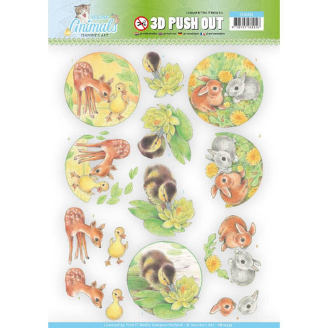 Find It Trading Jeanine's Art Young Animals Punchout Sheet
