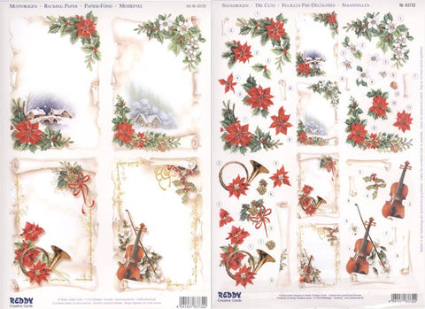 3D Die Cut Twin Pack - Christmas Parchment Frames by REDDY
