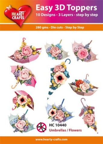 Easy 3D-Toppers Umbrellas/Flowers