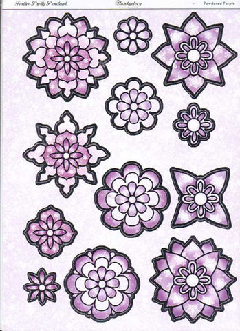 Hunkydory 3D diecut card topper -Pretty Pendants- Powdered Purple