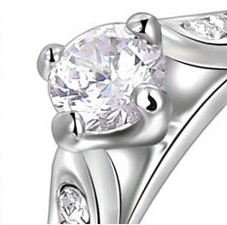 Women Round Crystal Stone Ring