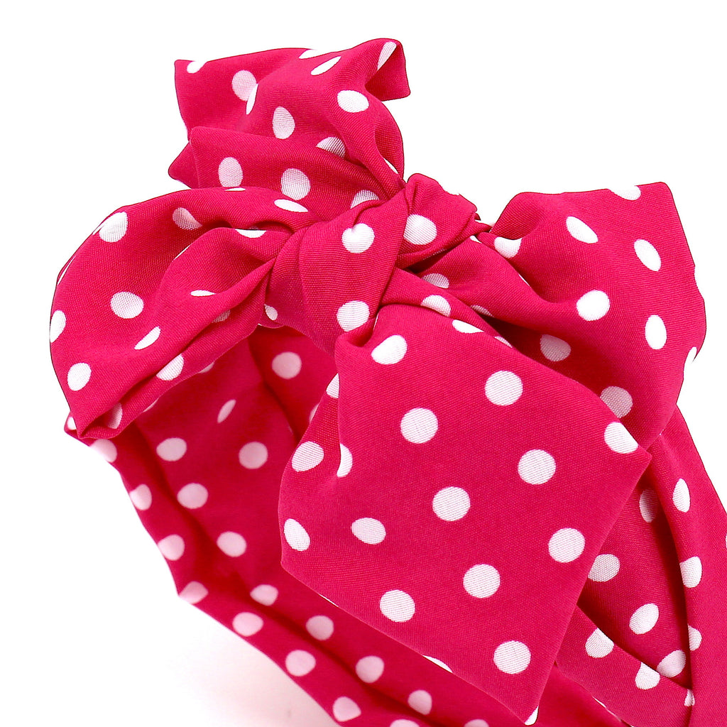 Hair Accessories Headband Pink Fashion Bow Striped Chic Dots Pattern