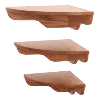 Solid oak corner shelf group