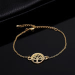 gold tree of life bracelet with pendant