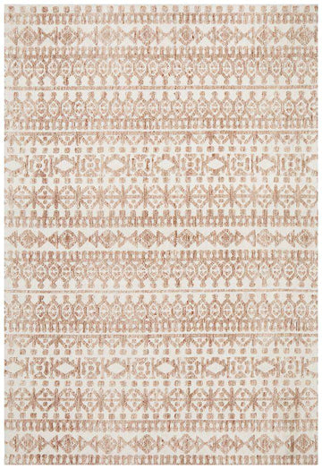 Simple Style Co: Orissa Tribal Rug Peach | Free Delivery Australia Wide