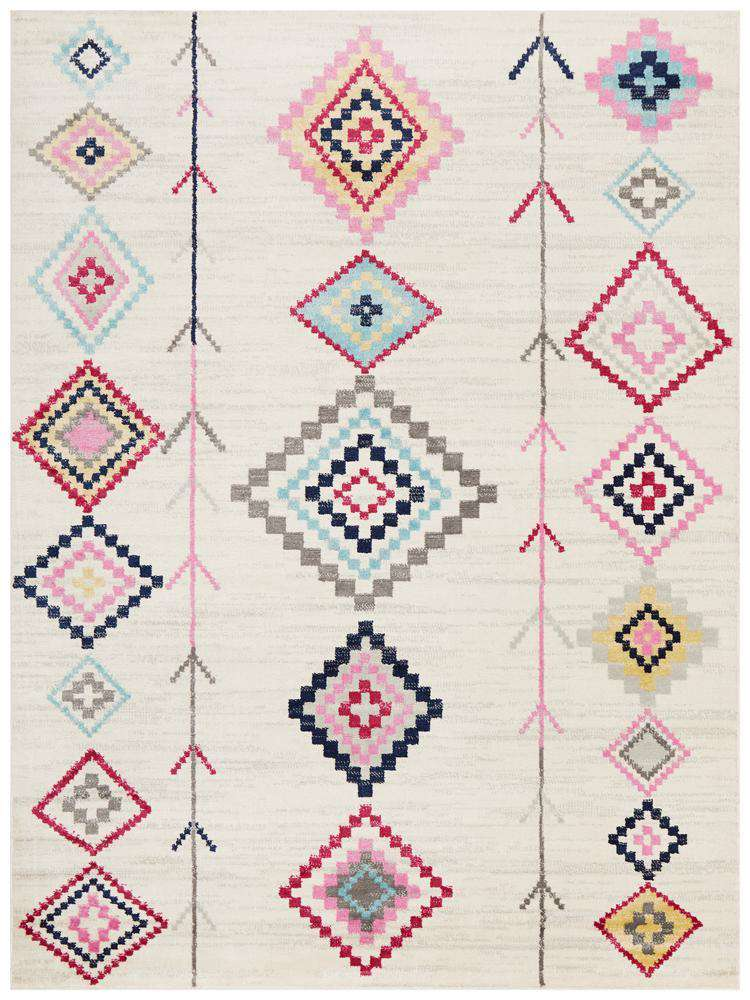 Simple Style Co: Belleville Eclectic Rug White |  Buy Rugs Online