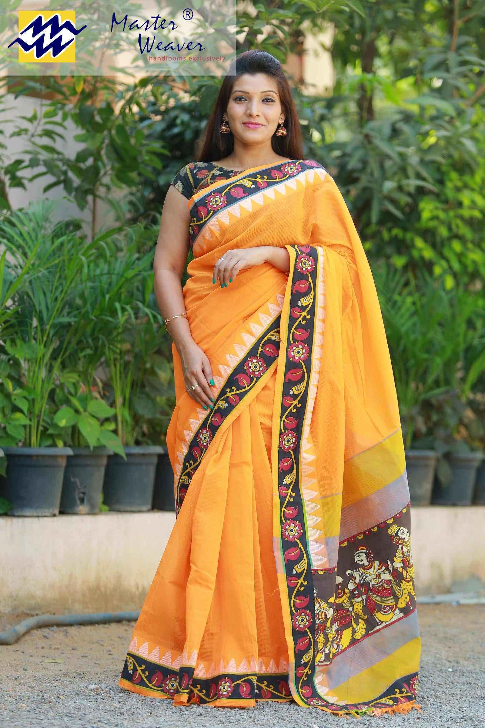 South Cotton Designer Sarees (Double Blouse)