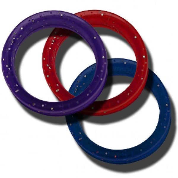 10 Soft Gummi Finger Rings Medium Mixed Colors (5 different colors 2 each)